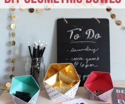 DIY Geometric Bowls