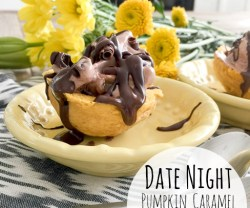 Pumpkin Caramel Gelato Cookie Cups!
