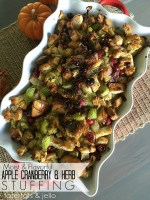 Moist and Flavorful Apple, Cranberry and Herb Stuffing!
