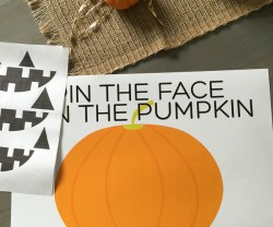 """Pin The Face on the Pumpkin"" Game and Free Printable!"