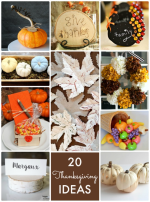 Great Ideas — 20 DIY Thanksgiving Ideas!