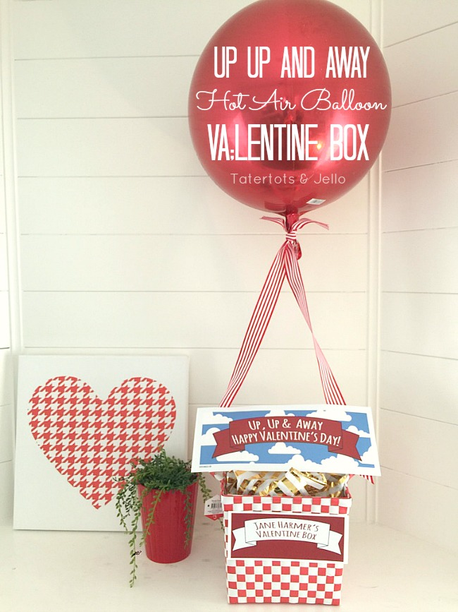 valentine up up and away hot air balloon box