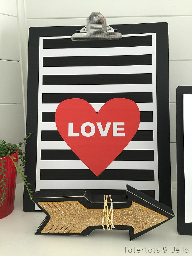 love black and white stripe printable