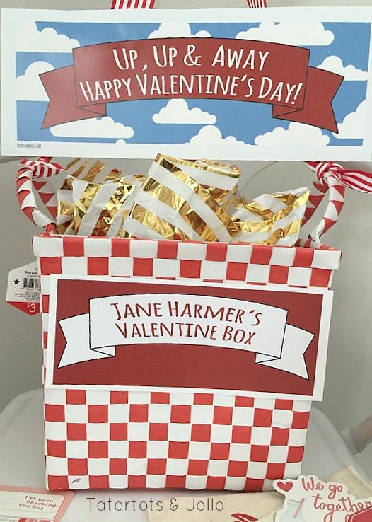 hot air balloon valentine box printables