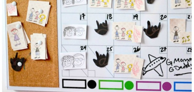 Pinterest DIY Picture Calendar for Preschoolers