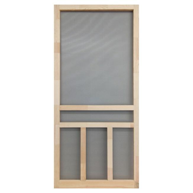How to install a wood screen door steps for Wood screen doors