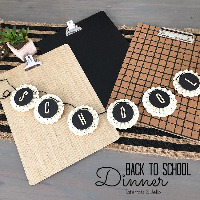Back-to-School Black and White Dinner Party Ideas!: tatertotsandjello.com/2016/08/back-to-school-black-and-white-dinner...