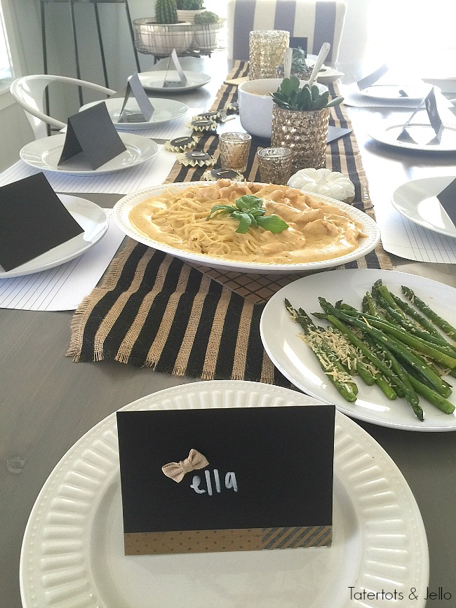 Back to school black and white dinner party ideas - Black and white food ideas ...