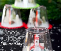 DIY Snow Globe Ornaments – Kids Craft!