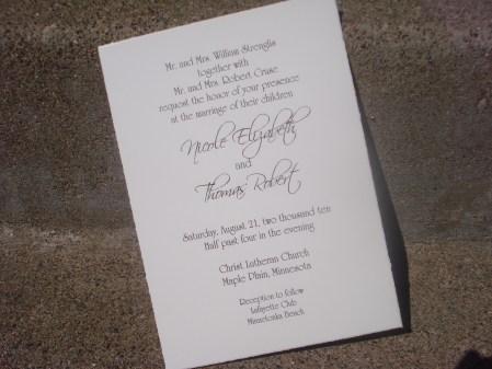 Wedding Invitations Including Parents Names