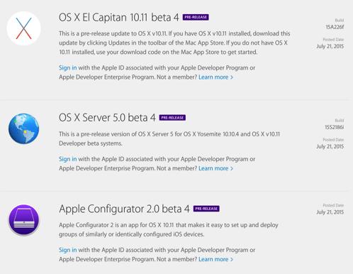 OS X 10 11 El Capitan b4