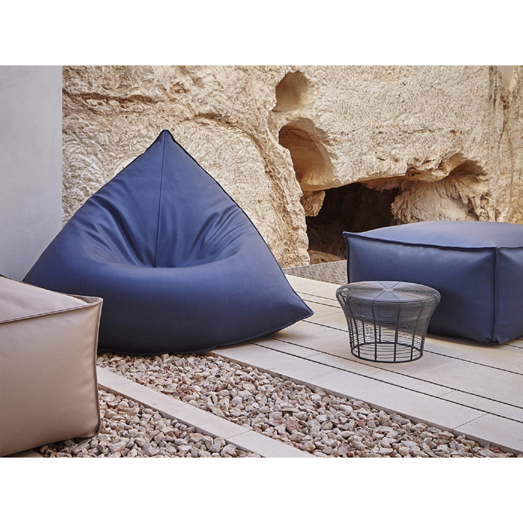 Gandia Blasco Sail Outdoor Pouf Tattahome