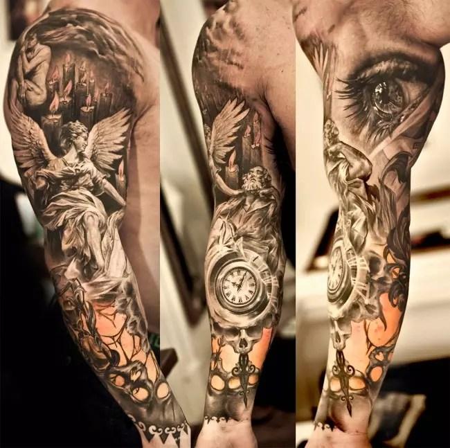110+ Best Guardian Angel Tattoos - Designs  Meanings (2018)