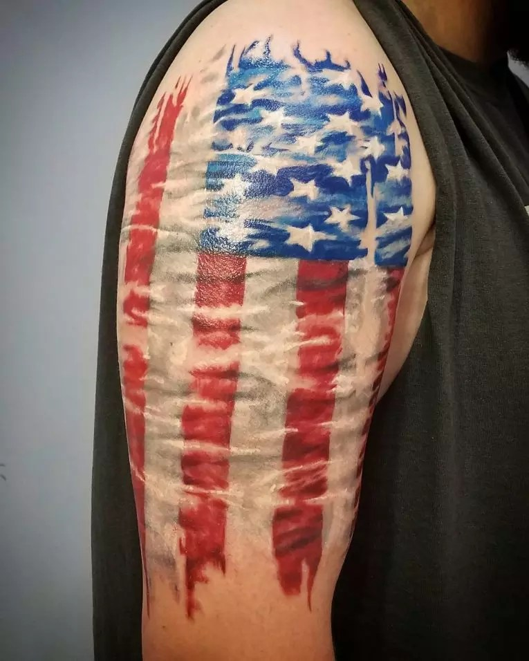 85+ Best Patriotic American Flag Tattoos \u2014 I Love USA (2018)