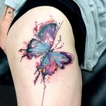 Watercolor Butterfly Tattoo Designs
