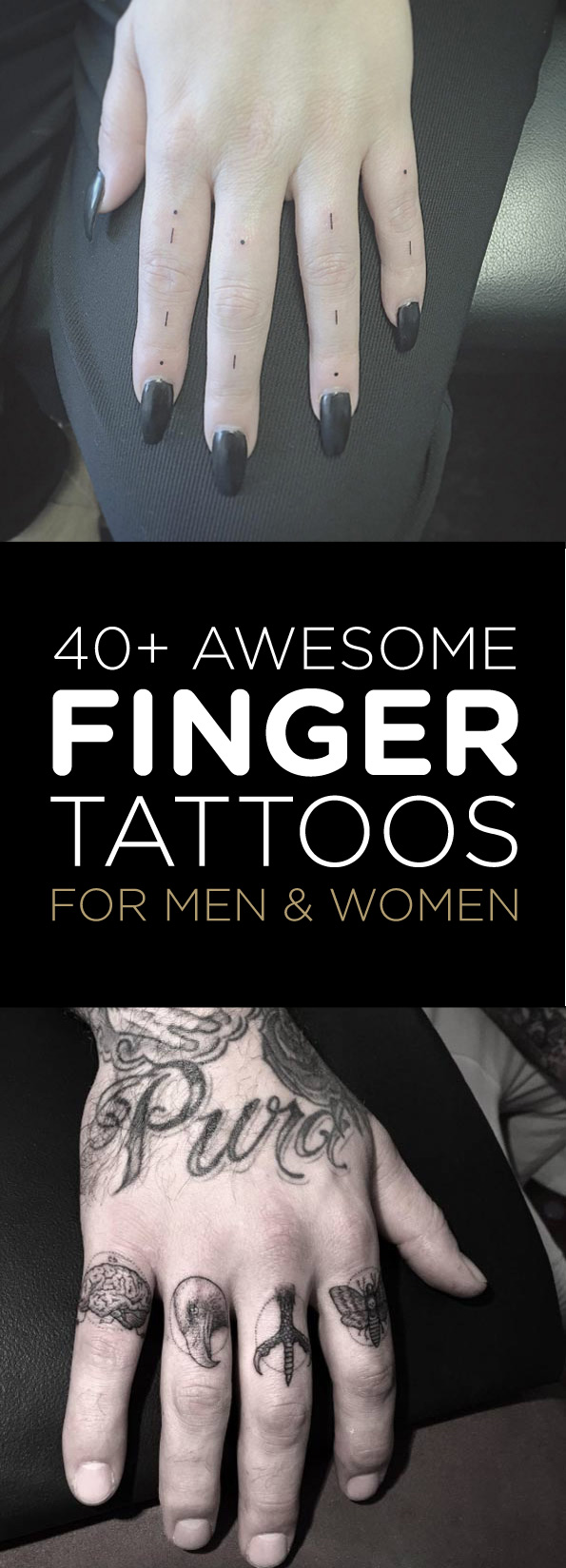 Finger Tattoo Schrift 40 Awesome Finger Tattoos For Men And Women Tattooblend