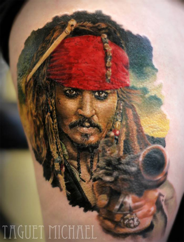 Johnny Depp as Captain Jack Sparrow from Pirates of the Caribbean