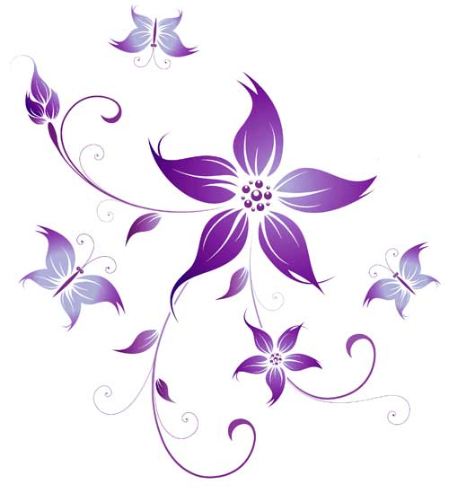 flower design purple fairy - TattooMagz \u203a Tattoo Designs / Ink