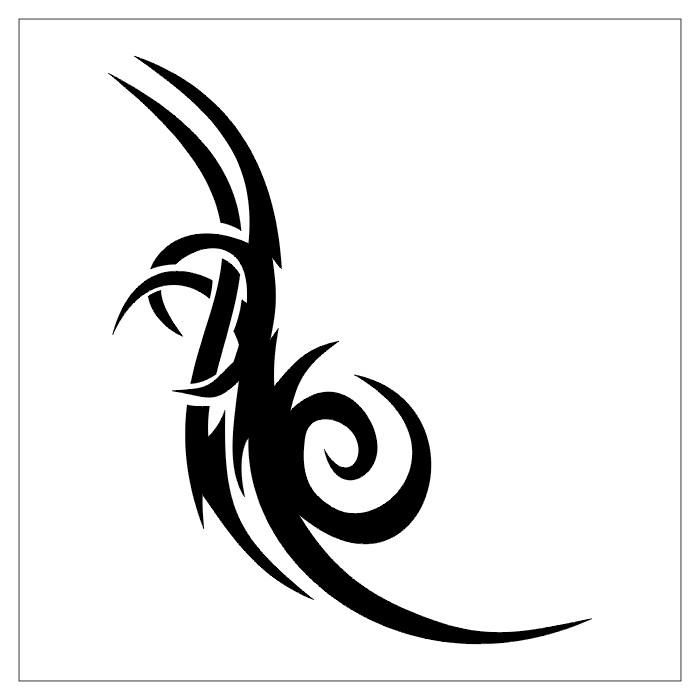 Simple Outline Tribal Design for Tattoo Ideas - Tribal Tattoos - tattoo template