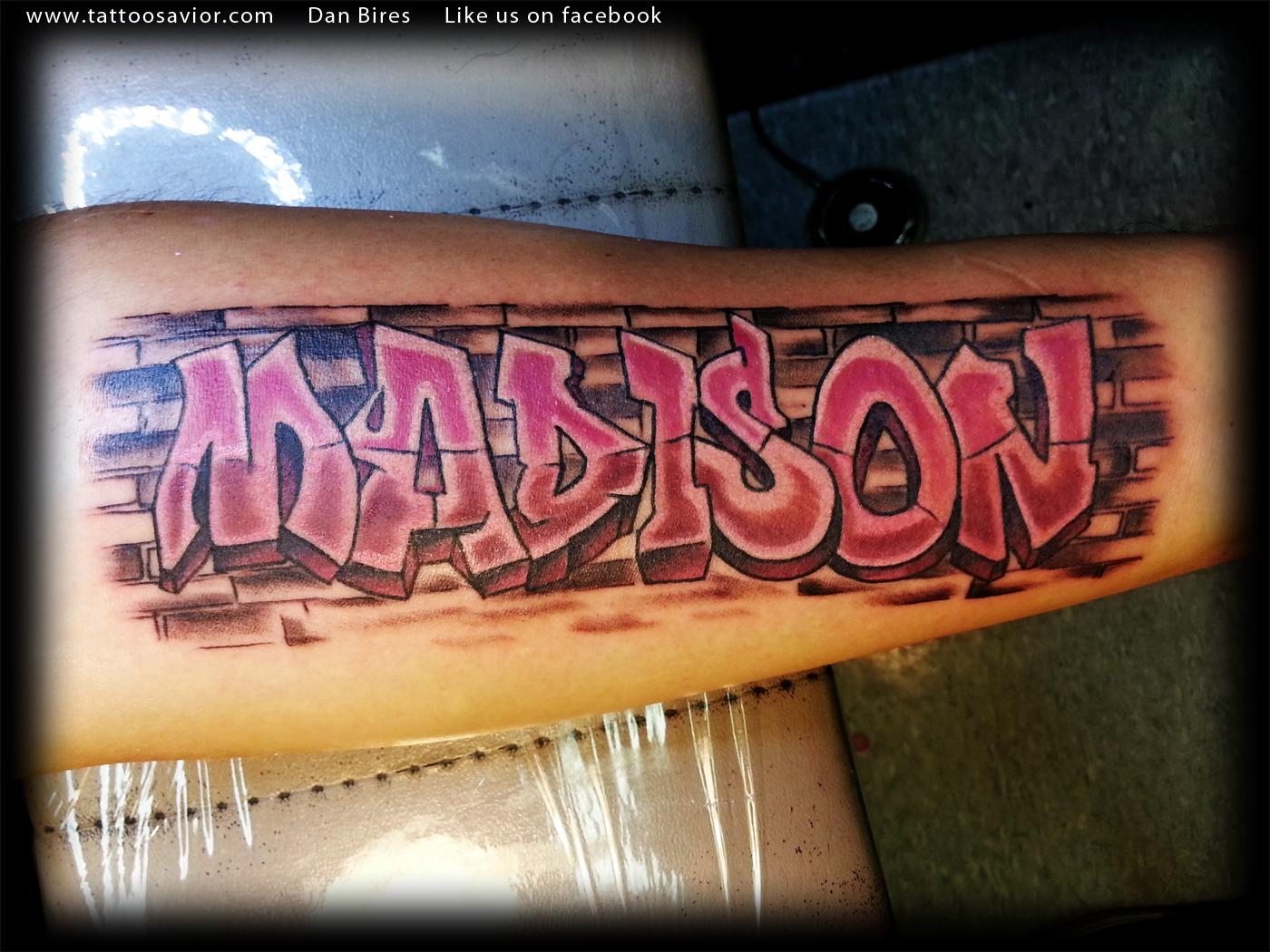 Brick wall tattoos graffiti