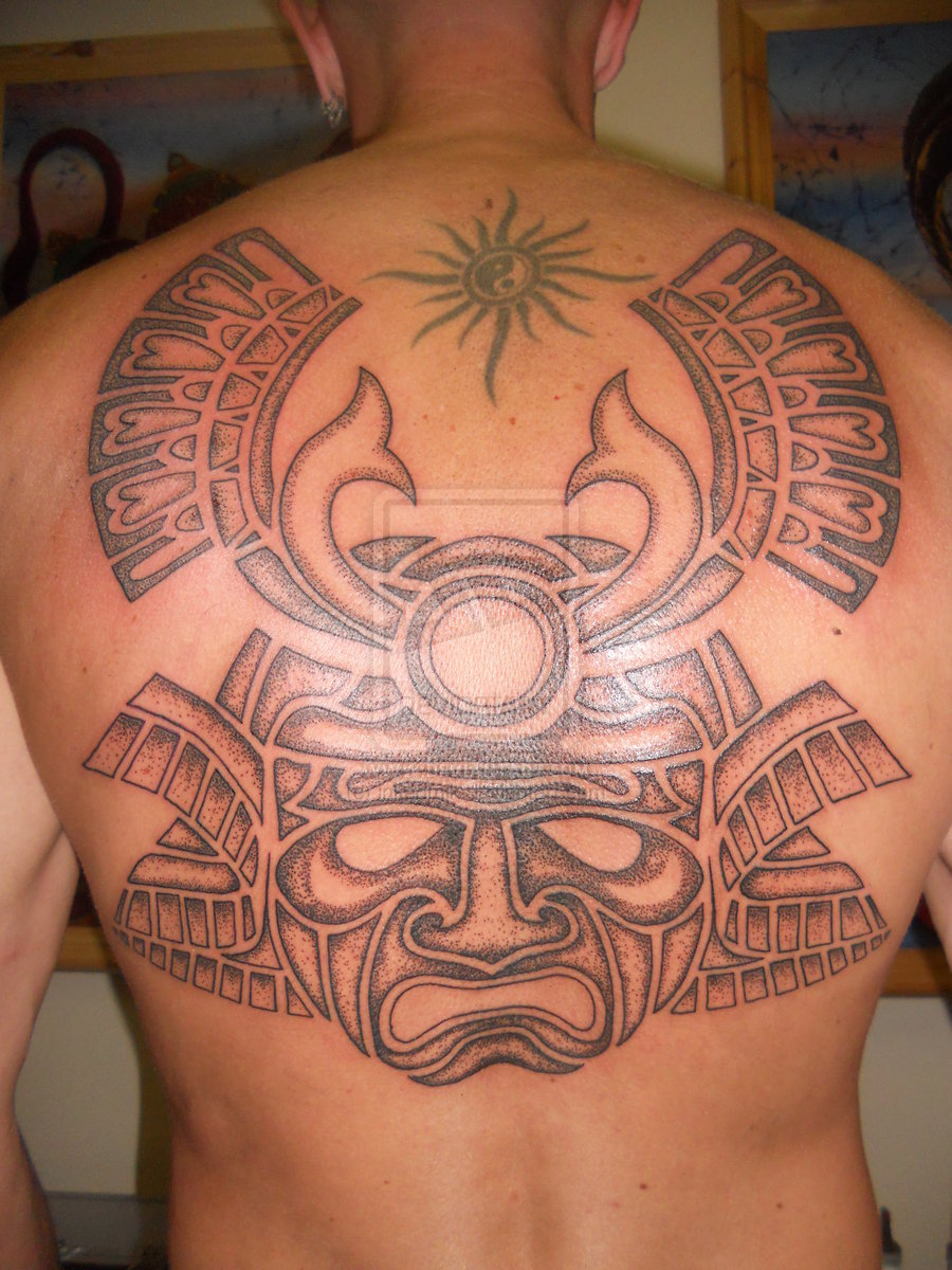 Parfume Bottle Samurai Mask Tattoos Designs, Ideas And Meaning | Tattoos