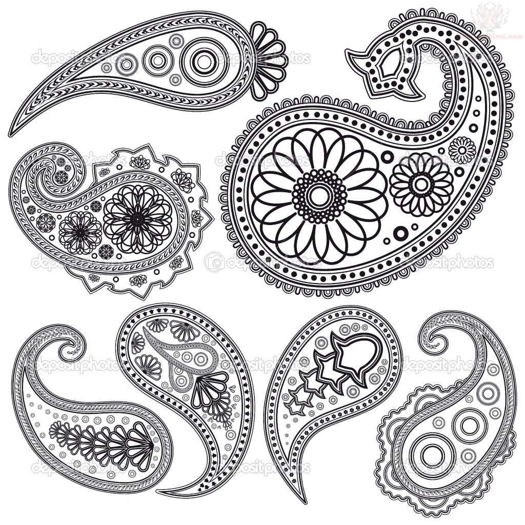 Art Design Bilder Paisley Pattern Tattoo Images And Designs