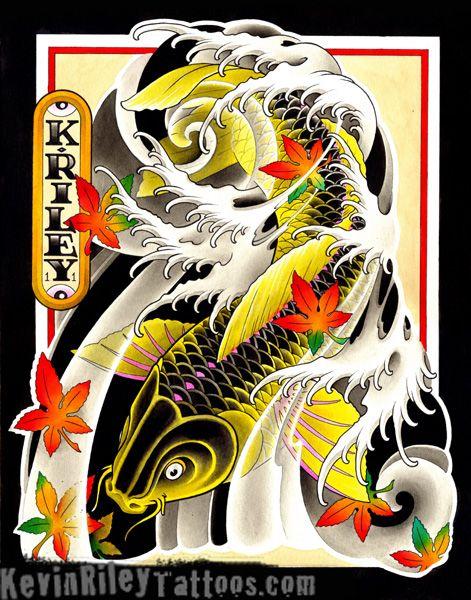3d Celtic Cross Wallpaper Gold Amp Black Japanese Art Koi Tattoo