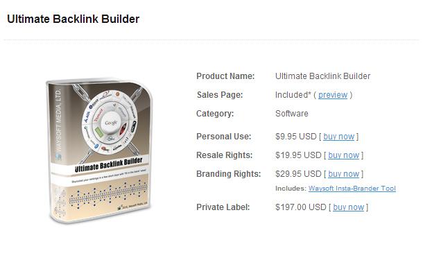 ultimate backlink builder
