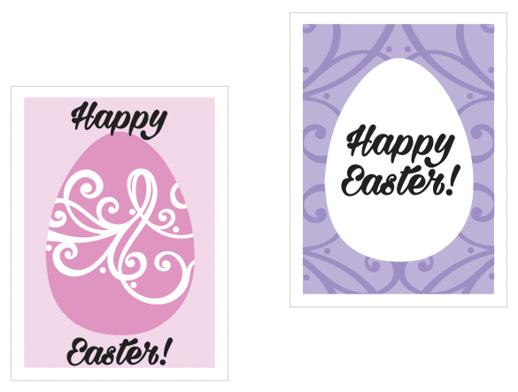 Easter Egg cards