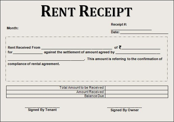 The Most Complete Guide on Rent Slips/Receipts to claim maximum HRA