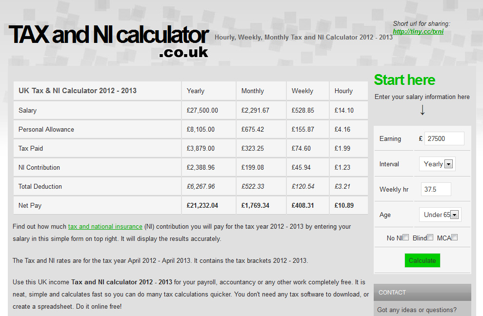 Net Pay Calculator How To Calculate Income From House Property For - Income Tax Calculator