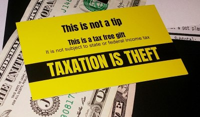 100 Tax Free Tip Cards   Taxation is Theft