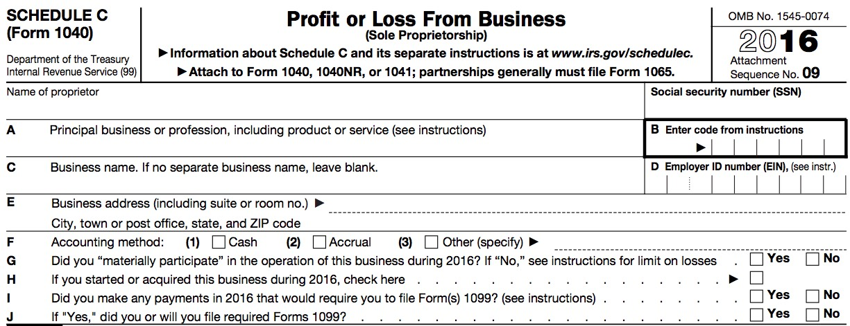 The 1040 \u2013 The Schedule C Describe Your Business \u2013 Taxes Are Easy