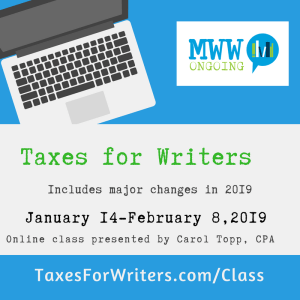 Taxes for Writers 2