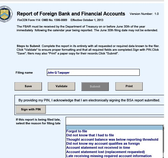 Nuances of FBAR \u2013 Foreign Bank Account Report Filings \u2013 for USCs and