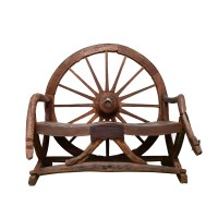 Wagon Wheel Bench - Taxidermy Mounts for Sale and ...