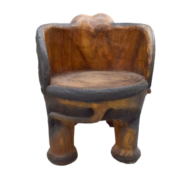 Carved Elephant Chair Taxidermy Mounts For Sale And - Elephant Chair