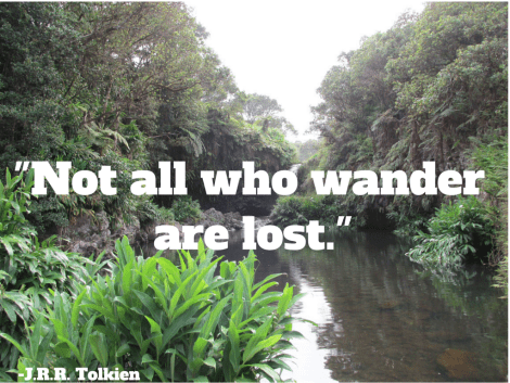 -Not all who wander  are lost.-