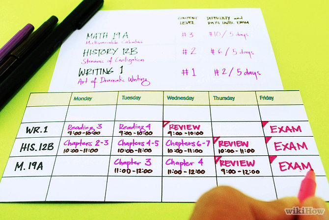 how to make a good schedule - Hacisaecsa - create a schedule