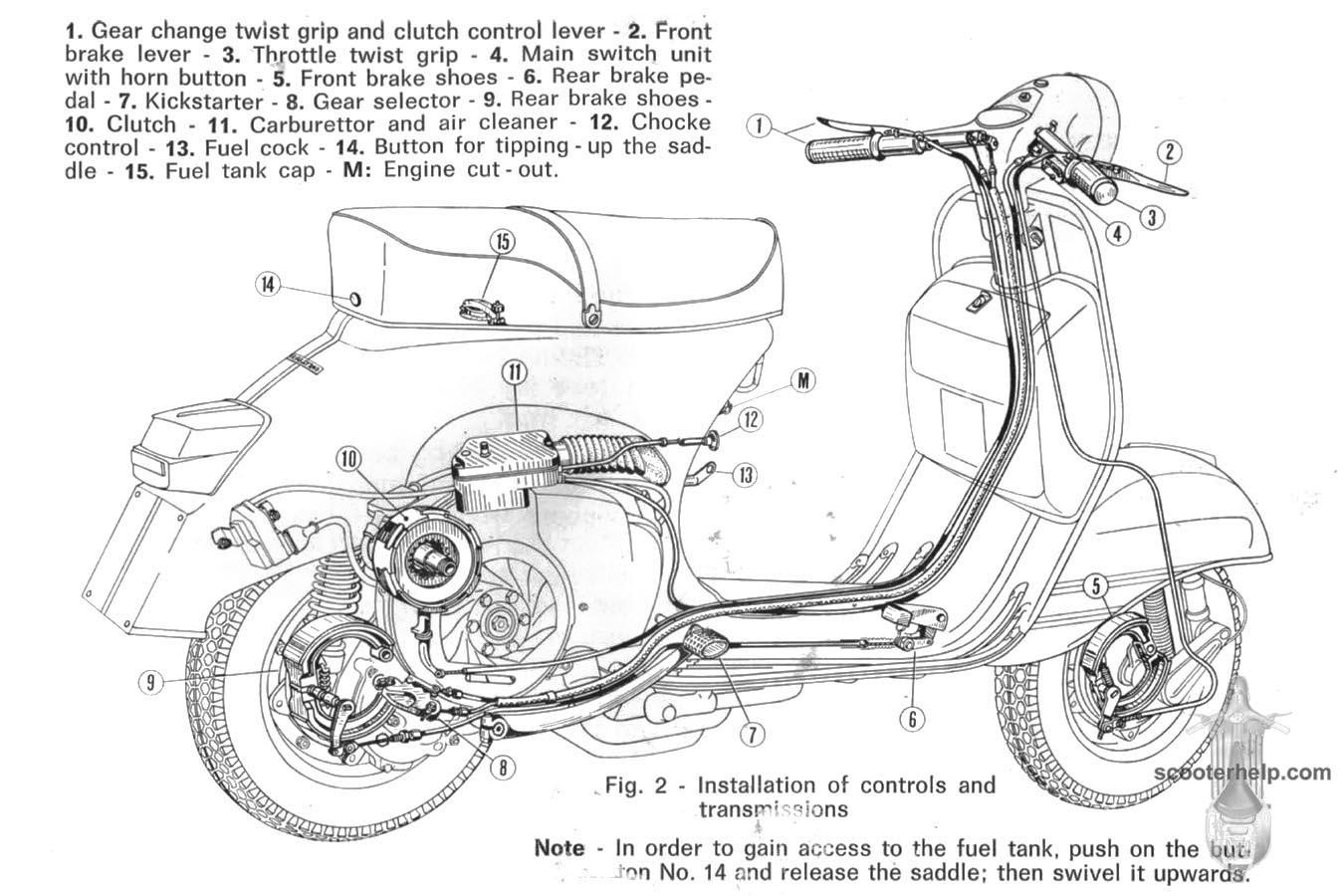 vespa scooter wiring diagram