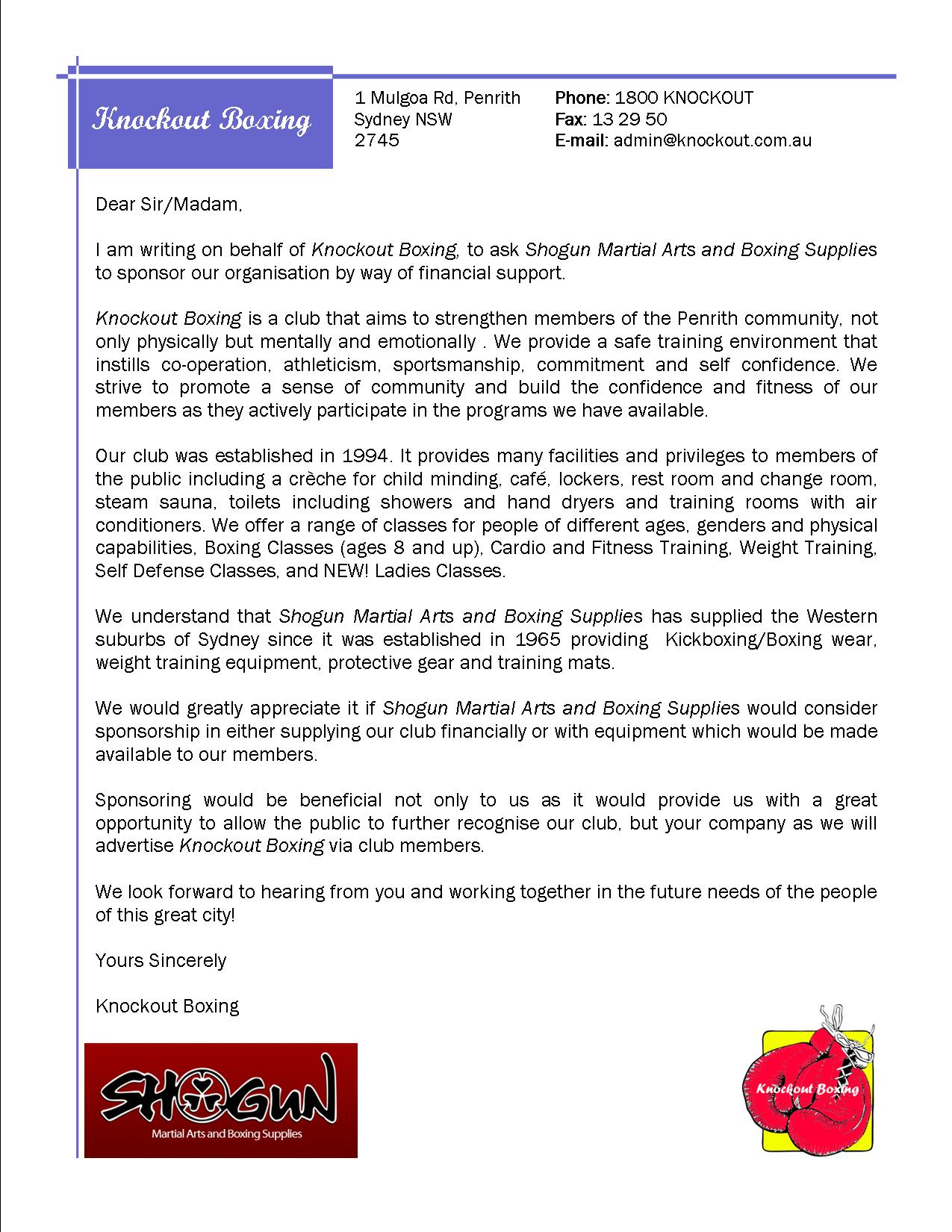 How To Make Sponsor Letter | Example Good Resume Template