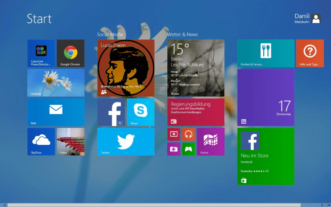 windows 8.1 startscreen