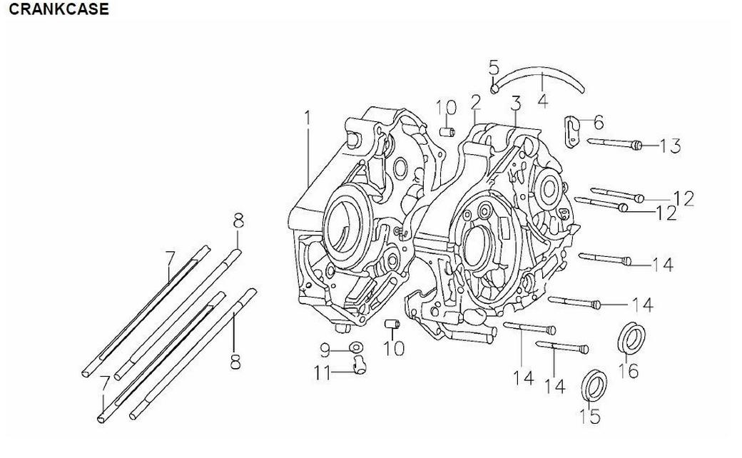 110cc pit bike engine diagram