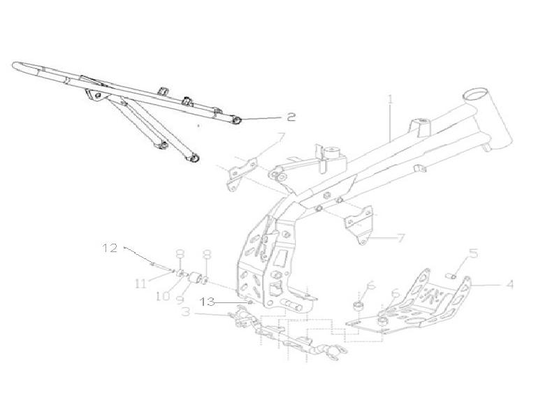 110cc pit bike del Schaltplan