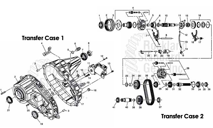 Borg Warner 4484 Transfer Case - Rockland Standard Gear, Inc