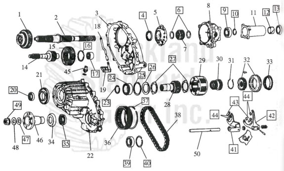 241 transfer case diagram