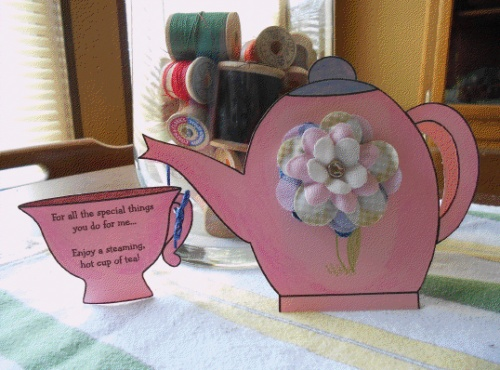 Mother\u0027s Day Teapot Card Template - Think Crafts by CreateForLess