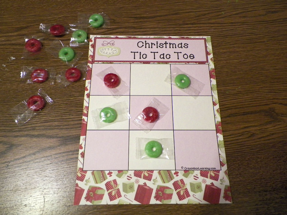 Christmas Tic Tac Toe - Think Crafts by CreateForLess - tic tac toe template