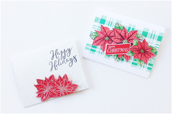 Holiday Poinsettia Card - Think Crafts by CreateForLess