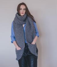Aileen Scarf: Wool Knit Kit for Scarves and Snoods online ...